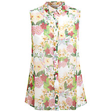Buy Miss Selfridge Sleeveless Tropical Shirt, Multi Online at johnlewis.com