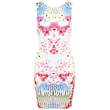 Buy Miss Selfridge Tropical Print Bodycon Dress, Assorted Online at johnlewis.com
