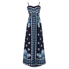 Buy Oasis Bandeau Placement Maxi Dress, Multi/Blue Online at johnlewis.com