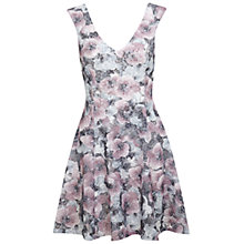 Buy Miss Selfridge Lilac Printed Lace Skater Dress, Assorted Online at johnlewis.com