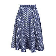 Buy Closet Print Jacquard Skirt, Navy Online at johnlewis.com