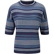 Buy Viyella Oversized Check Jumper, Navy Online at johnlewis.com