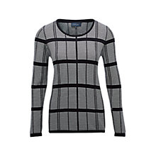 Buy Viyella Abstract Check Jumper, Navy Online at johnlewis.com