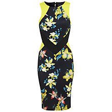 Buy Miss Selfridge Tropical Print Cut Out Dress, Assorted Online at johnlewis.com