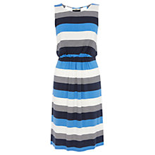 Buy Oasis Block Stripe Midi Dress, Multi/Blue Online at johnlewis.com