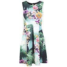 Buy Miss Selfridge Tropical Floral Skater Dress, Assorted Online at johnlewis.com