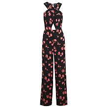 Buy Miss Selfridge 90s Cutout Floral Jumpsuit, Assorted Online at johnlewis.com