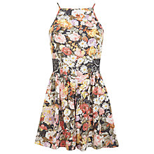 Buy Miss Selfridge Floral Halter Playsuit, Assorted Online at johnlewis.com