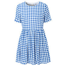 Buy True Decadence Gingham Smock Dress, Blue Online at johnlewis.com