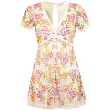 Buy Miss Selfridge Floral Embellished Playsuit, Assorted Online at johnlewis.com