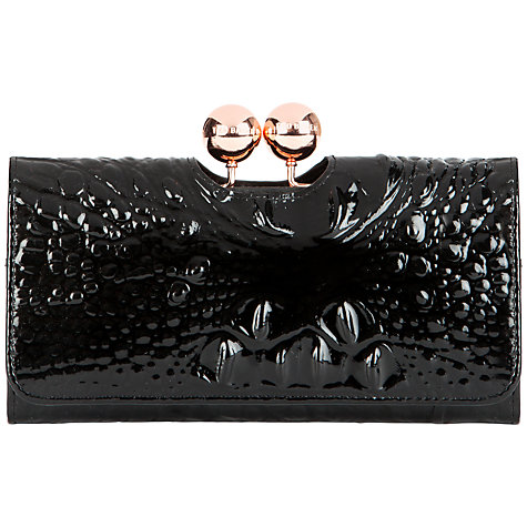 Buy Ted Baker Elmira Exotic Effect Leather Matinee Purse, Black Online at johnlewis.com