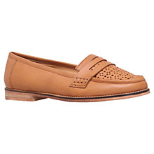 Buy Carvela Large Leather Loafer Shoes, Tan Online at johnlewis.com