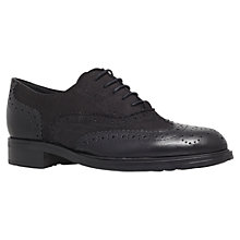 Buy Carvela Lent Nubuck Leather Lace Up Brogues, Black Online at johnlewis.com