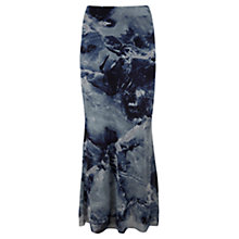 Buy Mint Velvet Luna Maxi Skirt, Blue/Multi Online at johnlewis.com