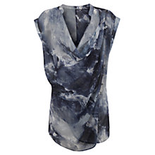 Buy Mint Velvet Luna Sleeveless Blouse, Blue/Multi Online at johnlewis.com