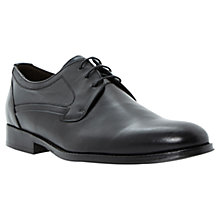 Buy Dune Robinson Leather Derby Shoes, Black Online at johnlewis.com