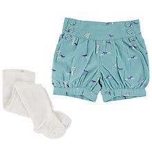 Buy John Lewis Shorts & Tights Set, Teal/White Online at johnlewis.com