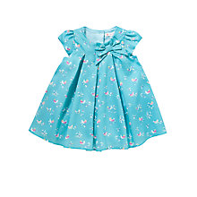 Buy John Lewis Bird Print Dress, Teal Online at johnlewis.com
