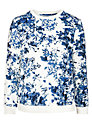 Minimum Marie Floral Print Sweatshirt, White & Blue