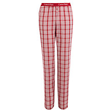 Buy Calvin Klein Check Pyjama Pants, Orange Online at johnlewis.com