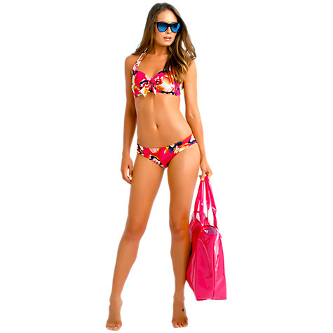 Buy Seafolly Kabuki Bloom Soft Cup Halter Bikini Top, Raspberry Online at johnlewis.com
