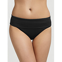Buy Seafolly Goddess Roll Top Bikini Briefs, Black Online at johnlewis.com