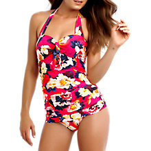 Buy Seafolly Kabuki Bloom Maillot Swimsuit, Raspberry Online at johnlewis.com