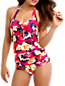 Seafolly Kabuki Bloom Maillot Swimsuit, Raspberry
