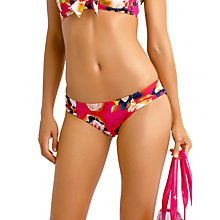 Buy Seafolly Kabuki Bloom Ruched Side Bikini Bottoms, Raspberry Online at johnlewis.com