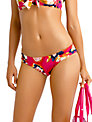 Seafolly Kabuki Bloom Ruched Side Bikini Bottoms, Raspberry
