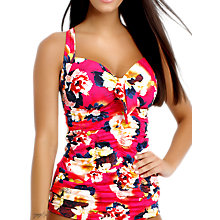 Buy Seafolly Kabuki Bloom DD Plus Halter Tankini Top, Raspberry Online at johnlewis.com