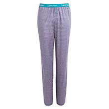 Buy Calvin Klein Diamond Dot Print Pyjama Pants, Purple Online at johnlewis.com