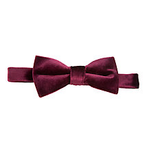 Buy John Lewis Boy Velvet Bow Tie, Burgundy Online at johnlewis.com