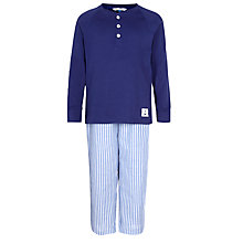 Buy John Lewis Boys' Stripe Bottoms Pyjama, Blue Online at johnlewis.com