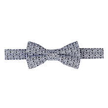 Buy John Lewis Boy Archive Print Bow Tie, Navy/White Online at johnlewis.com