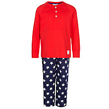 Buy John Lewis Boy Star Print Bottoms Pyjamas, Blue/Red Online at johnlewis.com