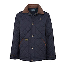 Buy Polo Ralph Lauren Boys' Quilted Jacket, Navy Online at johnlewis.com