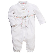 Buy Polo Ralph Lauren Baby Romper, White Online at johnlewis.com