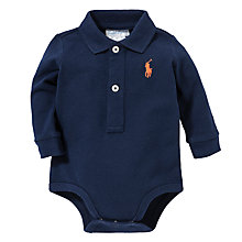 Buy Polo Ralph Lauren Baby Long Sleeve Polo Bodysuit Online at johnlewis.com