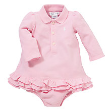 Buy Polo Ralph Lauren Baby Cupcake Dress, Light Pink Online at johnlewis.com