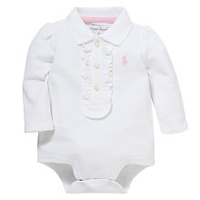 Buy Polo Ralph Lauren Polo Bodysuit, White Online at johnlewis.com