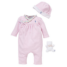 Buy Polo Ralph Lauren Coverall Gift Set, Set of 3, Pink Online at johnlewis.com