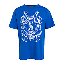 Buy Polo Ralph Lauren Boy's Crest T-Shirt, Blue Online at johnlewis.com