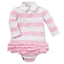 Buy Polo Ralph Lauren Baby Rugby Dress, Pink/White Online at johnlewis.com