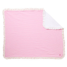 Buy Polo Ralph Lauren Baby Stripe Blanket, Pink/White Online at johnlewis.com
