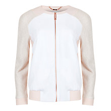 Buy Ted Baker Contrast Boucle Jacket, White Online at johnlewis.com