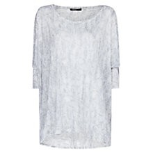Buy Mango Snake Print T-Shirt, Dark Grey Online at johnlewis.com