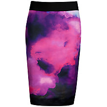 Buy Ted Baker Vienays Summer at Dusk Print Skirt, Grey Online at johnlewis.com