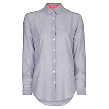 Buy Mango Striped Cotton Shirt, Medium Blue Online at johnlewis.com