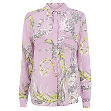 Buy Wishbone Honey Scarf Blouse, Multi Purple Online at johnlewis.com